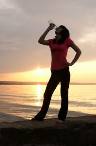 woman drinking water-shutterstock_122194018