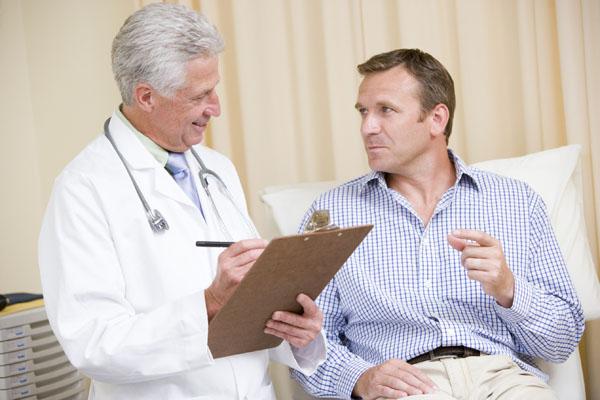 Man at Doctor Checkup