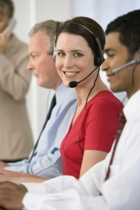 call center agent small