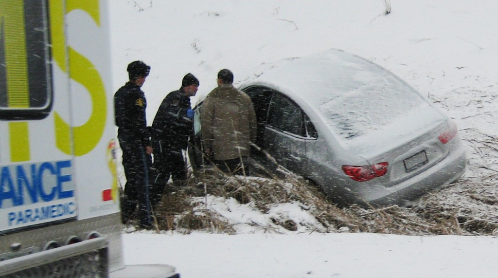 Car in a ditch