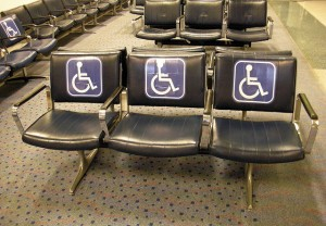 Handicapped seats at the airport