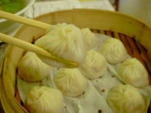 Chopsticks and dumplings