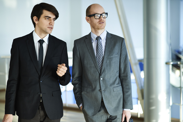 Employee and boss on a business trip