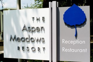 ASpen Meadows Resort sign