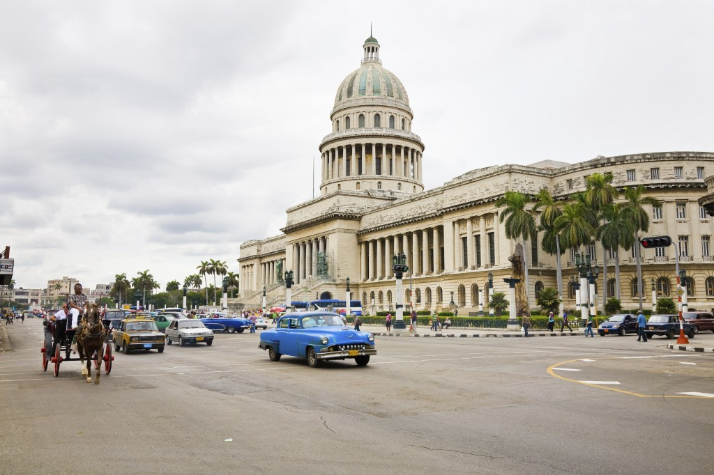 Traffic in Havana, Cuba