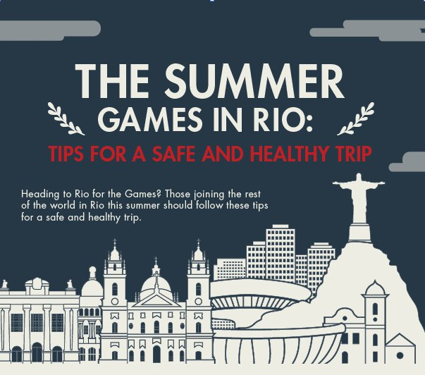 [INFOGRAPHIC] The Summer Games in Rio: Tips for a Safe & Healthy Trip