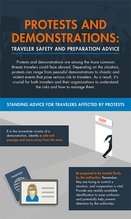 Protests and Demonstrations: Traveler Safety and Preparation Advice [INFOGRAPHIC]